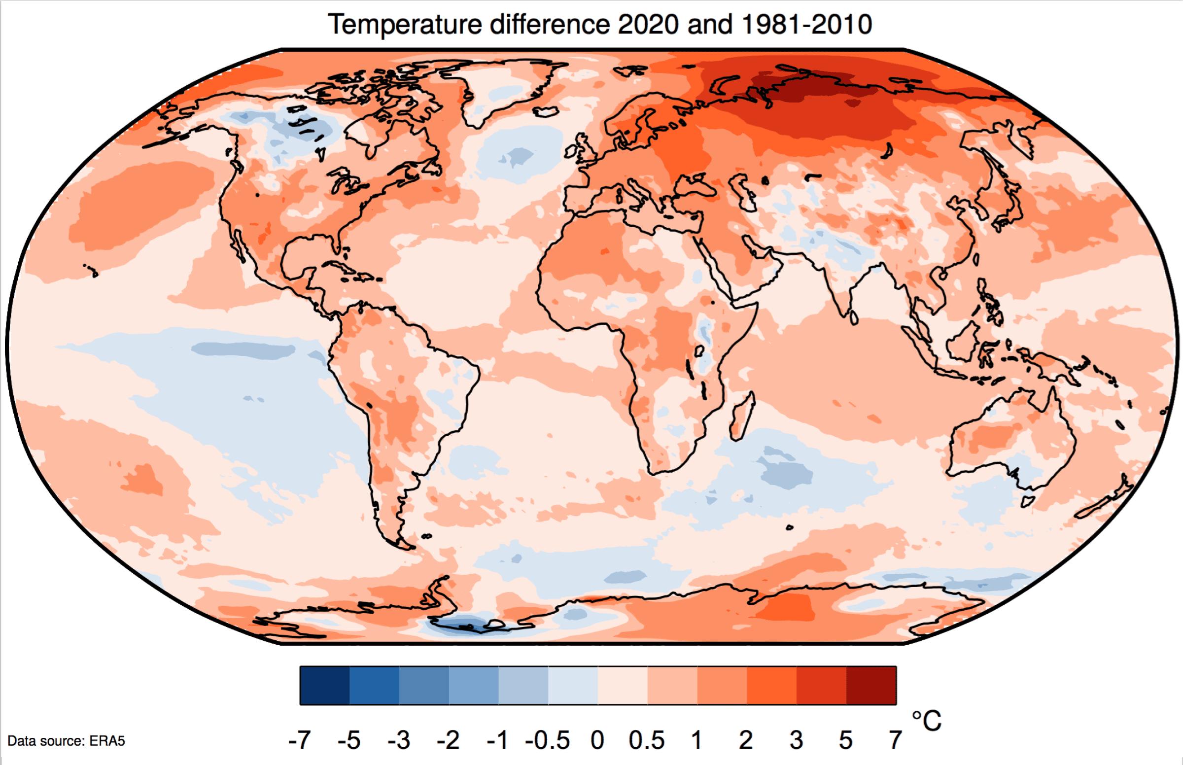 2020 est l'année la plus chaude jamais mesurée sur Terre, d'après Copernicus