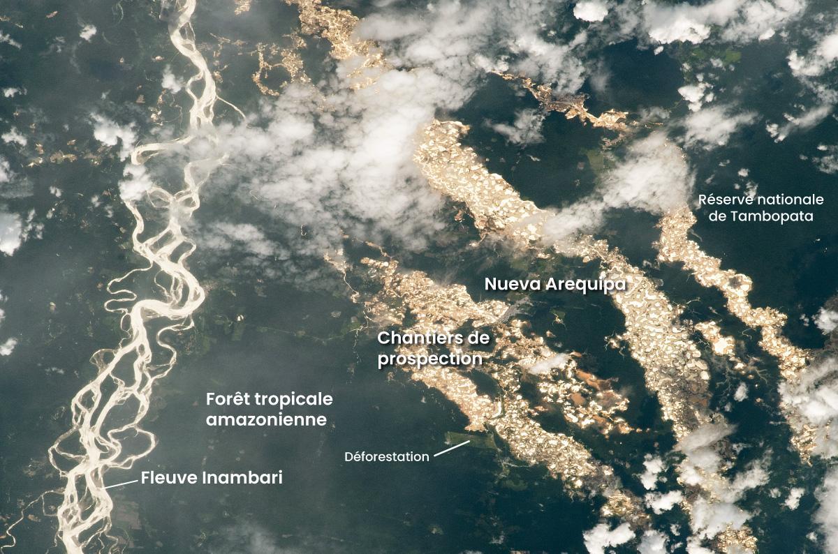 Un cliché de la NASA montre l'étendue de l'orpaillage illégal au Pérou