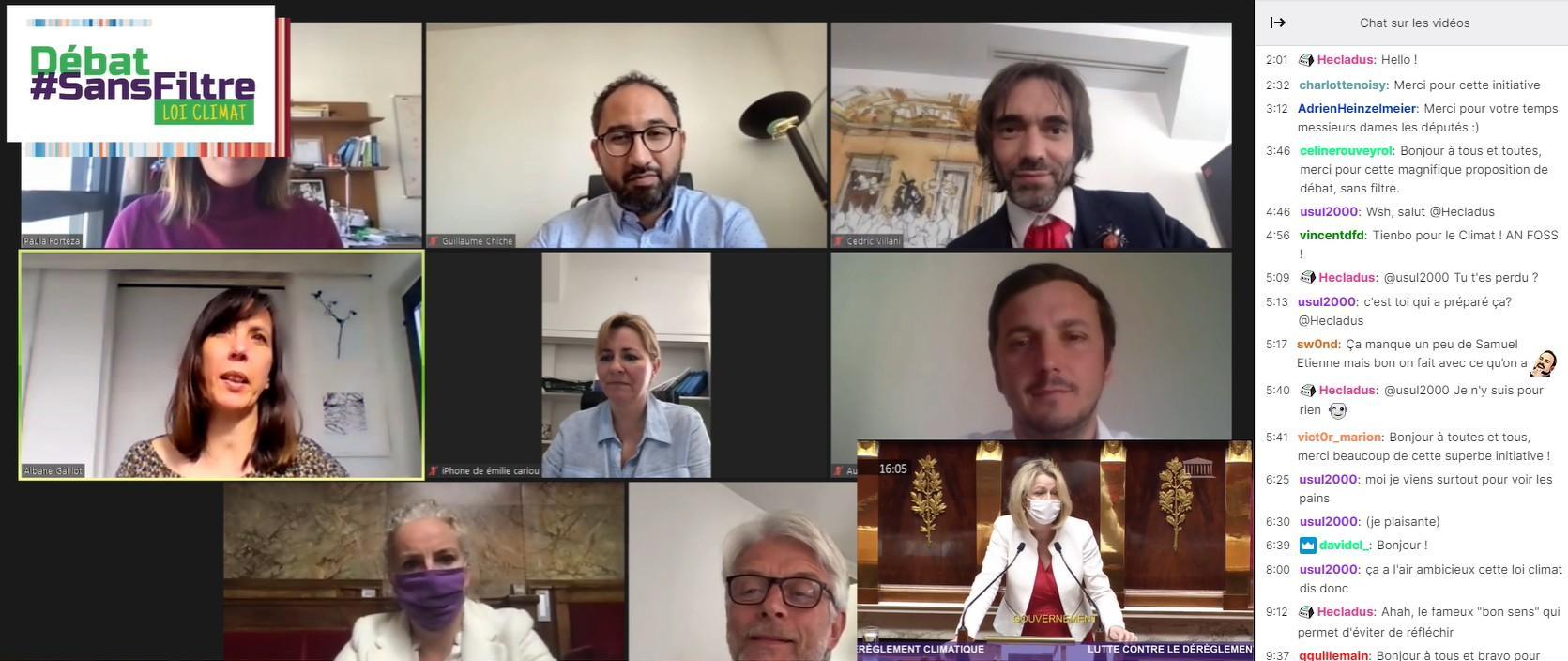 Loi climat: l'opposition débat «sans filtre» sur Twitch